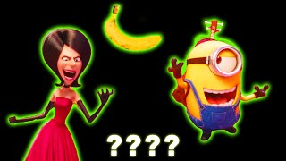 "16 Minion Stuart and Scarlett 🔊 ""BANANA!"" 🔊 Sound Variations in 63 seconds"