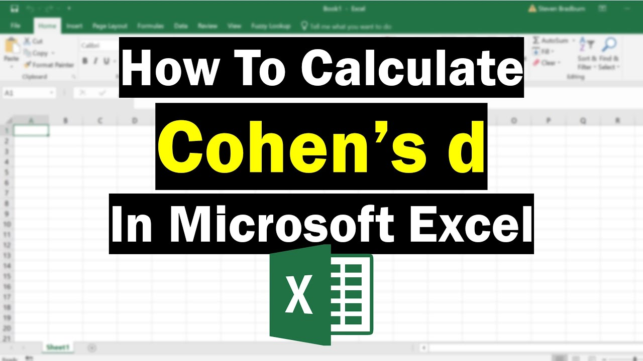 How To Calculate Cohen's d In Excel