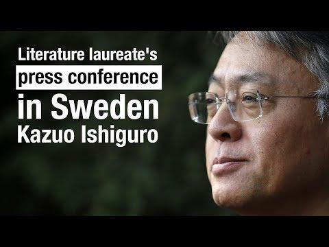 Live: Literature laureate's press conference in Sweden诺贝尔文学奖获得者石黑一雄在瑞典举办新闻发布会