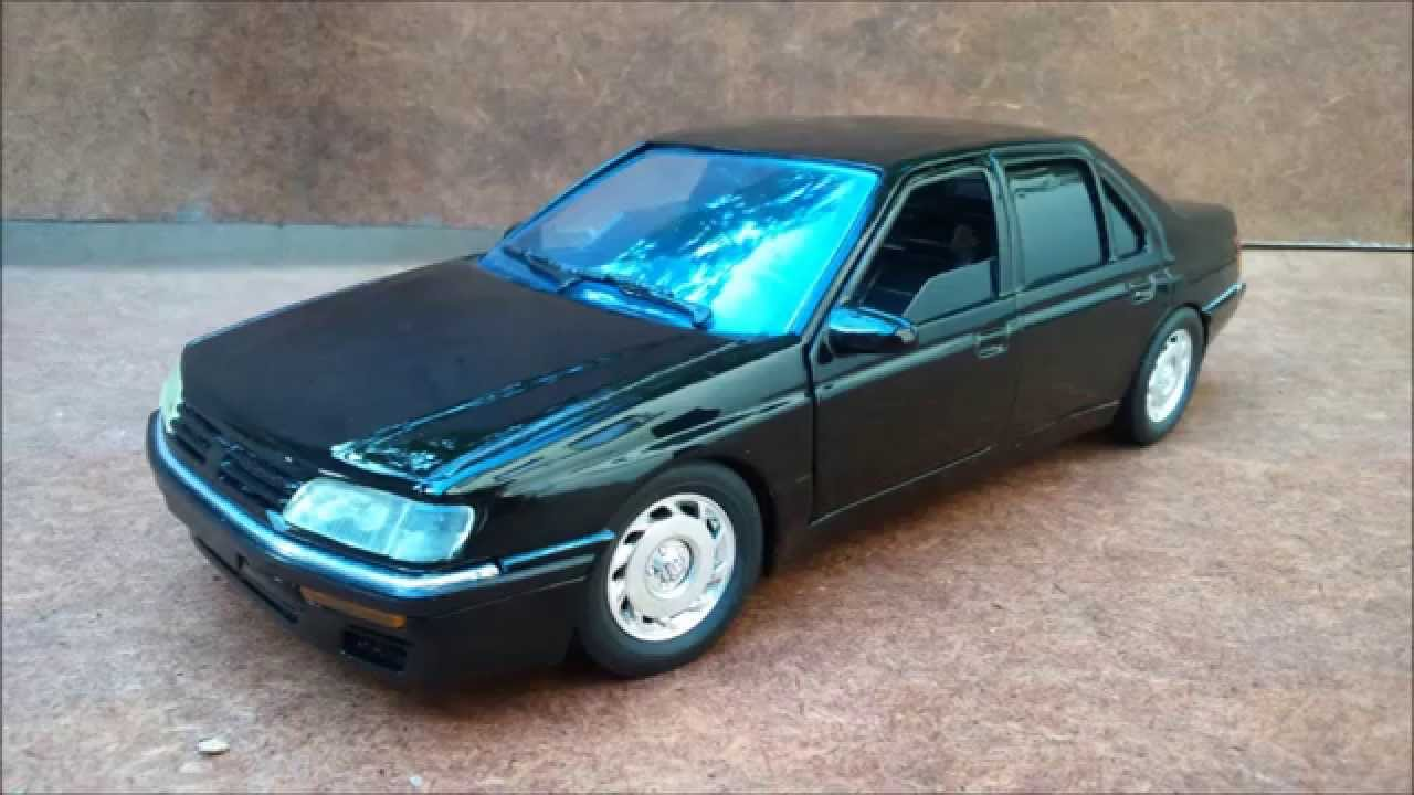 Peugeot 605 1 18 majorette youtube for Interieur 605