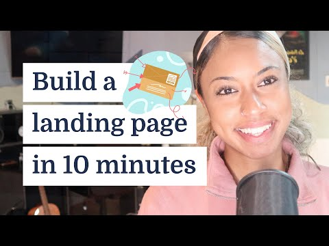 How to use landing pages to promote your work