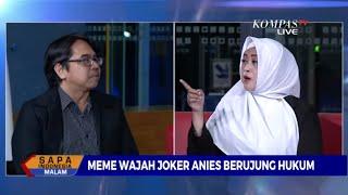 Debat Panas Fahira Idris dan Ade Armando Soal Meme Joker Anies Baswedan