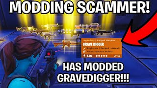 Scamming a Scammer for modded gravedigger! (Scammer Gets Scammed) Fortnite Save The World