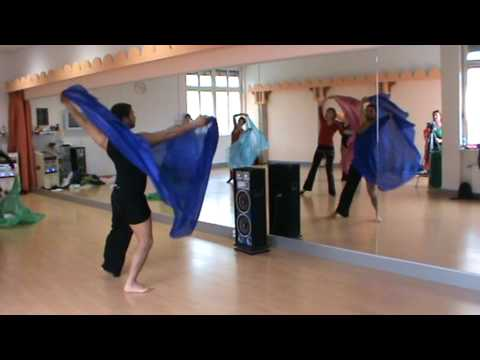 azad kaan, BASEL / SUISSE, male bellydance, modern veil choreography with Azad Kaan