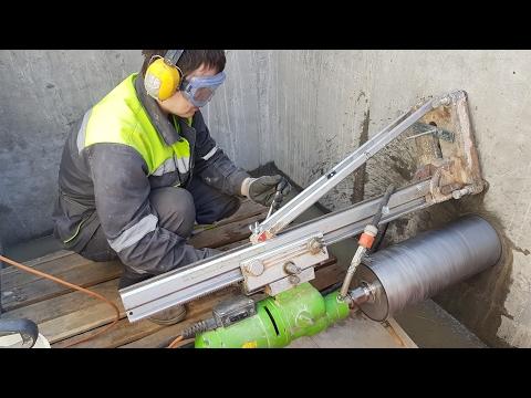 Алмазное бурение отверстий в бетонных и железобетонных стенах HD 1080