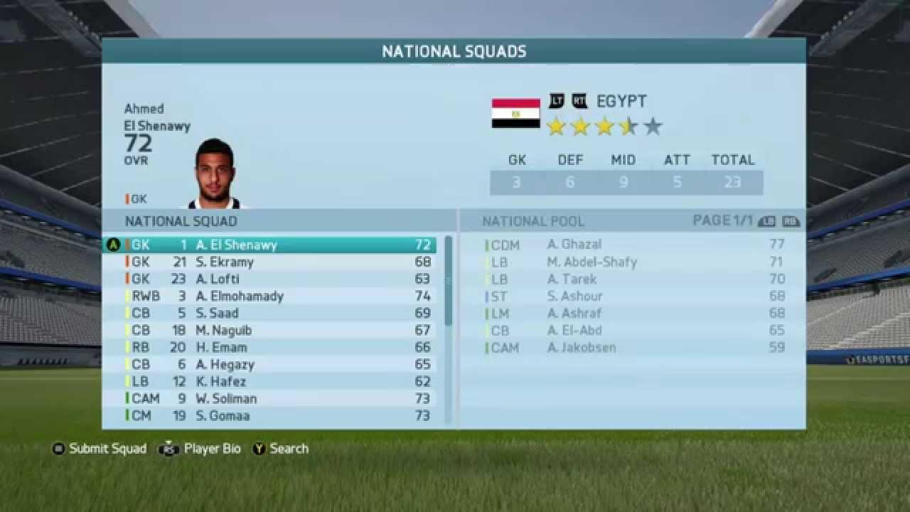 93f0db56f FIFA 16 EGYPT National Team Ratings - YouTube