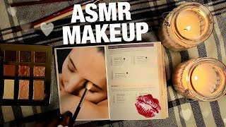 АСМР МАКИЯЖ ЖУРНАЛУ ТИХИЙ ГОЛОС О КОСМЕТИКЕ И КИСТОЧКАХ ASMR Applying makeup to magazines