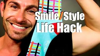 Style | Smile Life Hack (Socks Make Great Floss In A Pinch)
