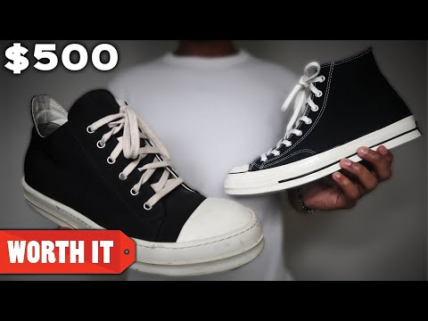 $80 Converse Vs. $500 Converse - YouTube