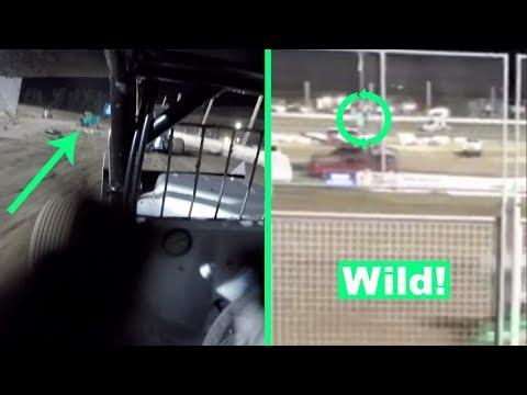 Wild Sprint Car Flip at the Southern Oregon Speedway!