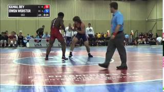 182 f, Owen Webster, Minnesota vs Kamal Bey, Illinois