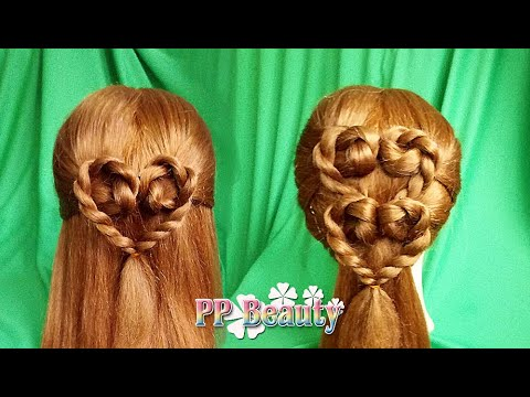 ถักเปียรูปหัวใจ : Heart Braid Hairstyles