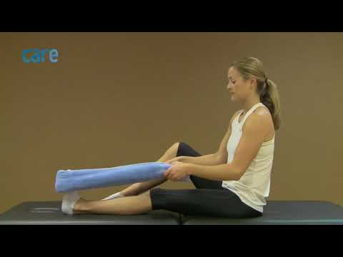 Ankle Stretch Exercise: Calf Stretch Towel