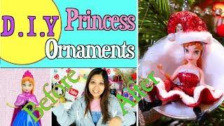 Decorating Christmas Tree with Handcraft DIY Baubles & Disney Princess Dolls