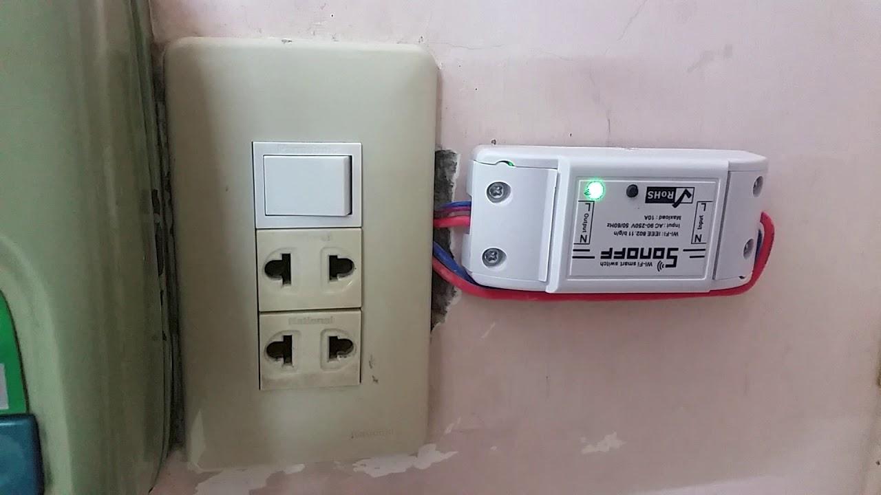 Sonoff tasmota fw with external switch