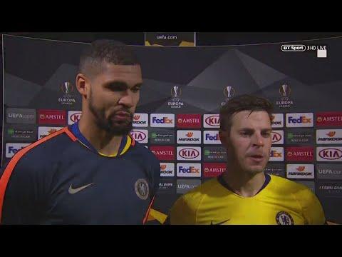 """Today was the first step."" Azpilicueta and Loftus-Cheek react to Frankfurt draw"