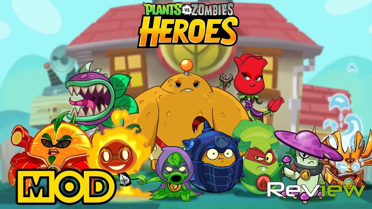 plants vs zombies heroes mod apk latest version