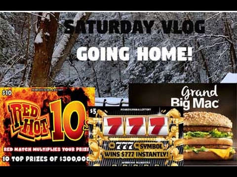 Saturday Morning VLOG : Visiting Some Childhood Sites & Winners - PA Lottery - Scratchers
