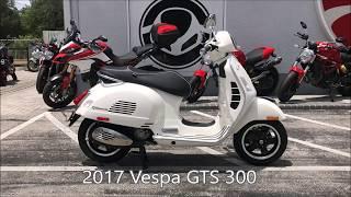 2017 Vespa GTS 300 Super in MonteBianco at Euro Cycles of Tampa Bay