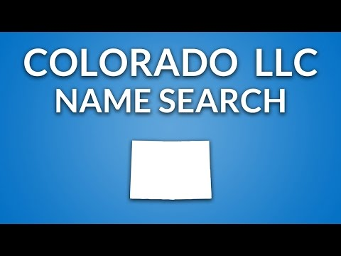 Colorado LLC - Name Search