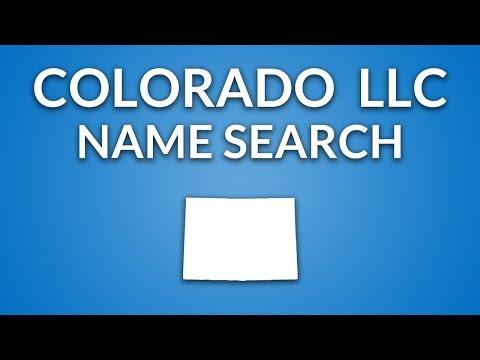 Colorado LLC - Name Search
