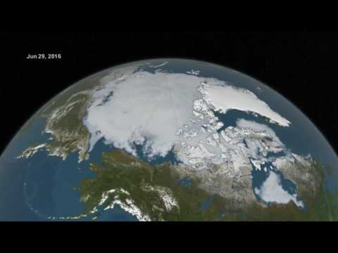 Arctic sea ice from March to September 2016 #ClimateChange