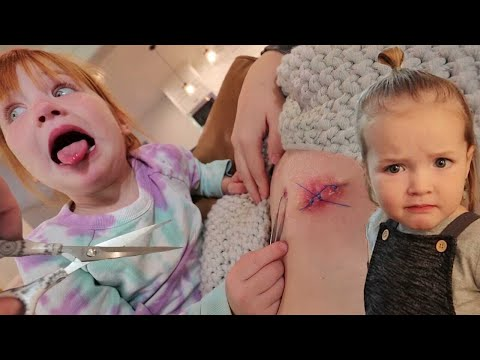 Doctor Adley Removes Stitches!!  Brave Mom U0026 Kids Surprise Me With Drone! Family Pirate Island Visit
