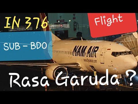 NAM Air Business Class | IN 376 Surabaya to Bandung | 24 Years Old Boeing 737-500 Flight Report