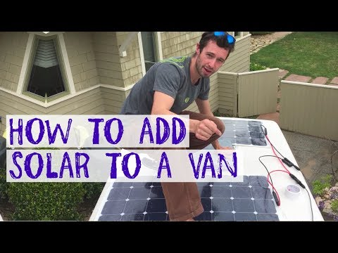 HOW TO ADD SOLAR TO AN RV / CAMPER VAN