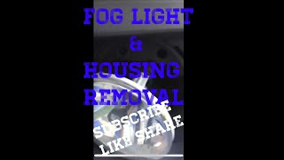 How to remove fog lights On gmc