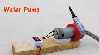 how to make a water pump easy