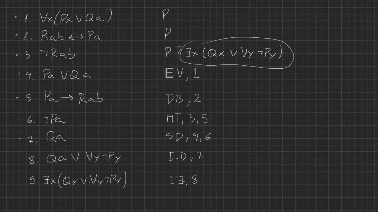 Lógica de primeira ordem [15] - Dedução natural com quantificadores