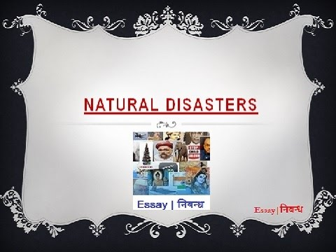 Essay on natural disaster