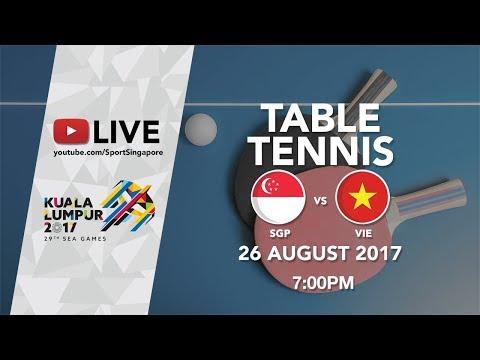 Table Tennis 🏓 Men's Team Final Singapore 🇸🇬 vs 🇻🇳 Vietnam | 29th SEA Games 2017