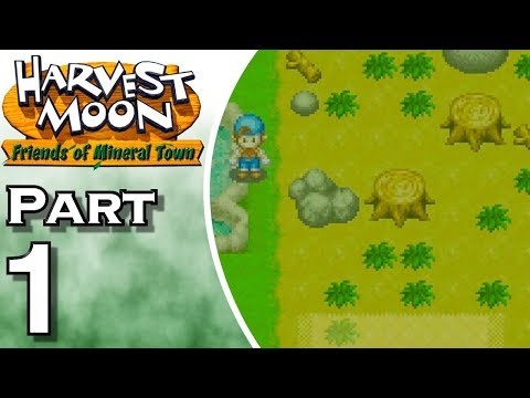 Let's Play Harvest Moon: Friends of Mineral Town (Gameplay + Walkthrough) Part 1 - Stranger's Farm