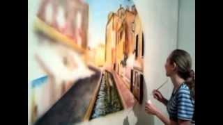 Роспись стен Венеция(Нарисовала Венецию. Делюсь своим творчеством. Больше фото и видео моей росписи на http://aerograf.spb.ru/, 2013-01-08T09:19:41.000Z)