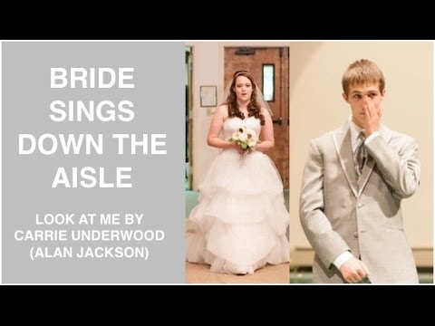 BRIDE SINGS DOWN THE AISLE (Ryan & Arianna's Wedding Day)