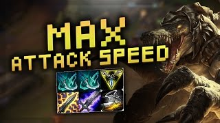 MAX ATTACK SPEED RENEKTON (2.5) TOP - Troll Builds That Work #3  (League of Legends)