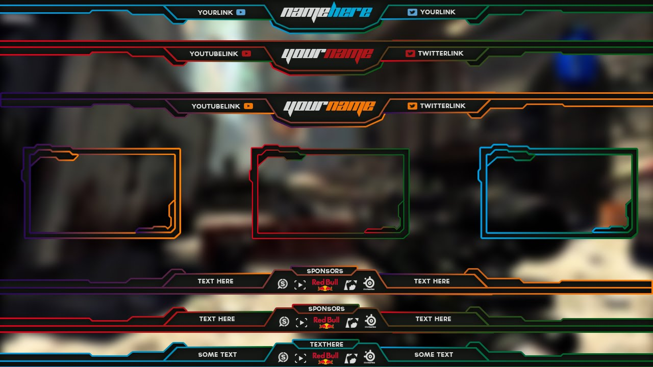 free twitch overlay template pack 1 youtube
