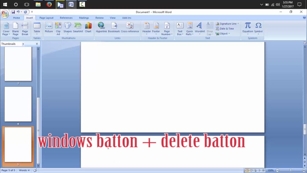How To Delete Blank Page On Microsoft Word