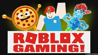 """ROBLOX: MANAGERS & MASTERPIECES! (NOOB PLAYS """"Work at a Pizza Place"""") FEATURING #RobloxToys"""