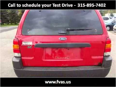 2002 Ford Escape Used Cars Frankfort NY