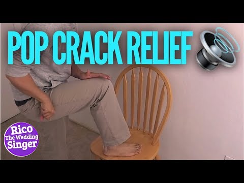 How to Crack Lower Back with Sciatic Massage Relief Twist ( Pop Self Adjustment )