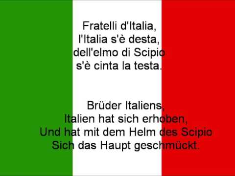 nationalhymne italiens text