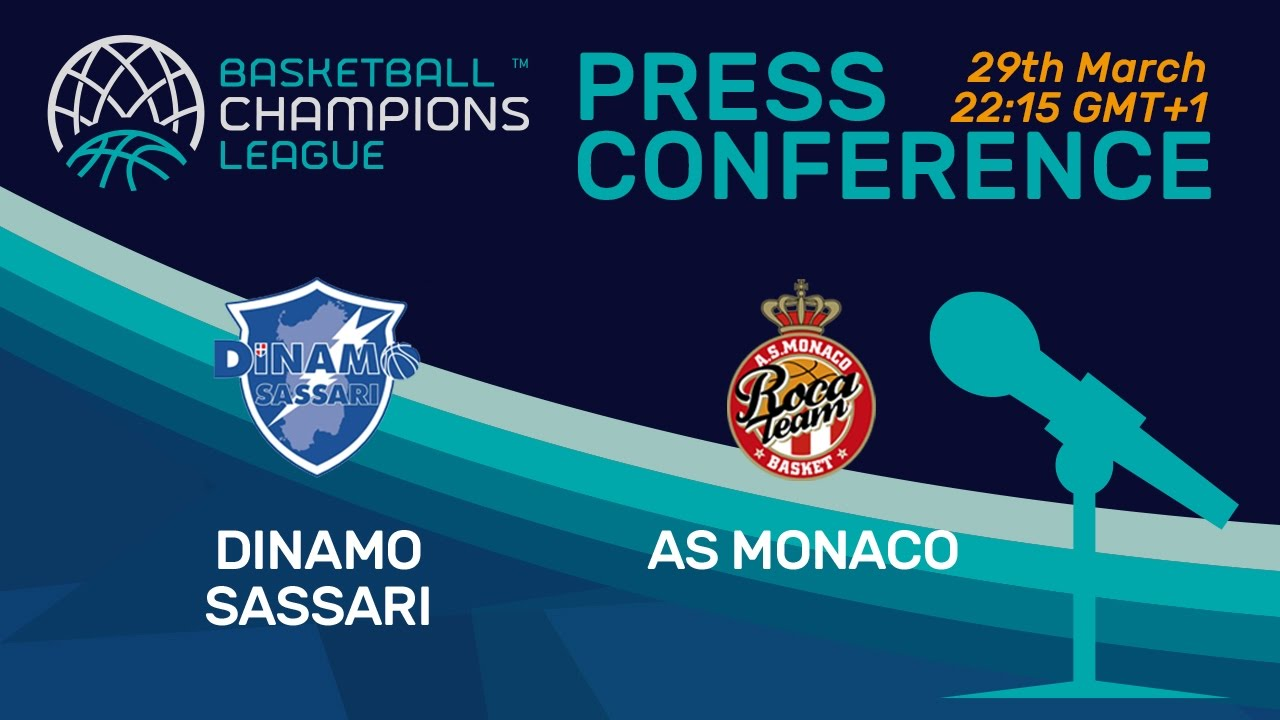 Dinamo Sassari v AS Monaco - Press Conference - Quarter-Final