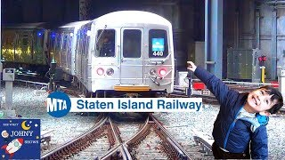 Johny's MTA Subway Train Ride On Staten Island Railway  St. George To Tottenville