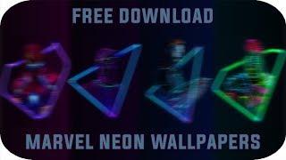 MARVEL'S Infinity War Neon Wallpapers ( Free Download )