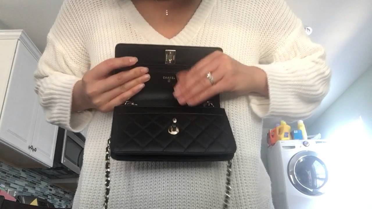 6bfdd9d5f886fa Unboxing Chanel trendy cc wallet on chain (Woc) - YouTube