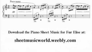 Fur Elise Sheet Music - Download and Print For Free