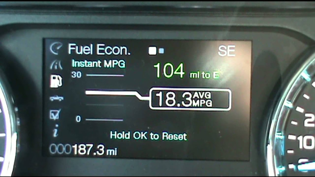 How to reset the oil life on a Ford F150 Edge Explorer Focus